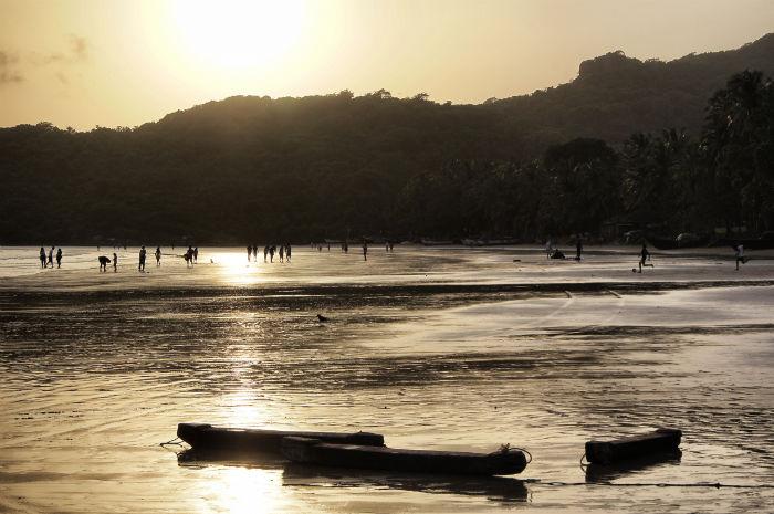 Tage in Goa Palolem Sonnenuntergang