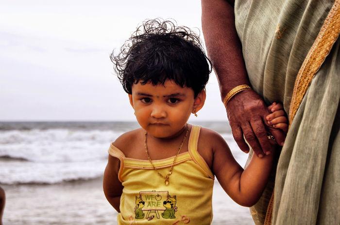 Urlaub in Indien Baby