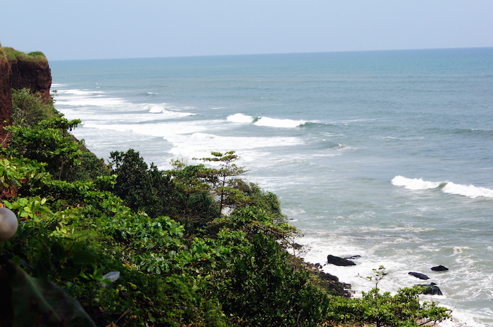 Urlaub in Indien Varkala Cliff
