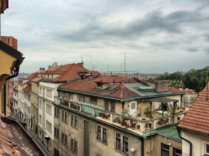 Reise nach Prag Ausblick vom Hotel
