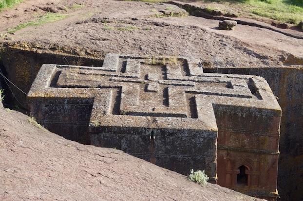 Felsenkirchen von Lalibela Georgskirche